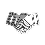 Handshake pictogram symbol Stock Illustration