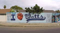 In the heart of Watts, CA Stock Footage