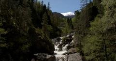 River mountain stream Stock Footage