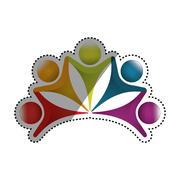 Abstract people symbol Stock Illustration