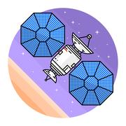 Satellite in space on the white background Piirros