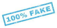 100 Percent Fake Rubber Stamp Stock Illustration