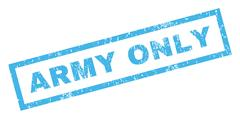 Army Only Rubber Stamp Stock Illustration