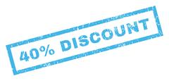 40 Percent Discount Rubber Stamp Stock Illustration