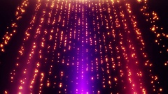Looped Falling Glowing Dust Particles Motion Background Pink Magenta Purple Gold Stock Footage