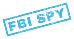 FBI Spy Rubber Stamp Stock Illustration