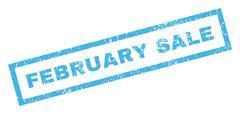 February Sale Rubber Stamp Stock Illustration