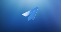 Paper Plane Blue 3d Icon Stock Footage