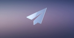 Paper Plane Silver 3d Icon Stock Footage