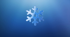 Snowflake Blue 3d Icon Stock Footage