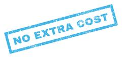 No Extra Cost Rubber Stamp Stock Illustration