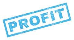 Profit Rubber Stamp Stock Illustration