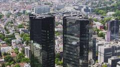 Frankfurt am Main, timelapse motion video Stock Footage