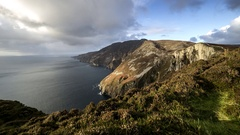 Cliffs in Ireland time lapse Stock Footage