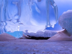 Fantastic World of Ice and Frozen Dreams Slide Right Low Deep Color Stock Footage