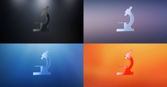Microscope 3d Icon Stock Footage
