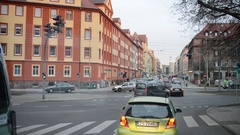 Daily traffic on the streets in Szczecin, Poland Stock Footage