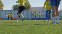 Soccer  / football practice Stock Footage