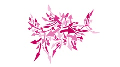 Growing Pink Arrows Cluster -    Flat Style  Video Footage Stock Footage