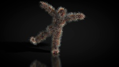 Animation of a hairy character dancing Stock Footage