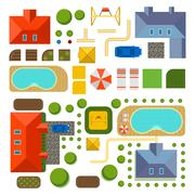 Plan of private house vector illustration Stock Illustration
