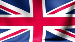 UK flag background. Animated waving Great Britain flag abstract. Background Stock Footage