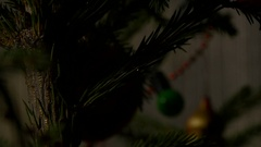 Christmass Tree. Decorating Toys. Happy New Year Illumination. Stock Footage
