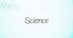 Camera pans over mathematics terminology   Science Stock Footage
