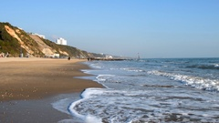 Waves on Bournemouth Beach Stock Footage