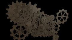 Seamless 3D Animated Gears Stock Footage