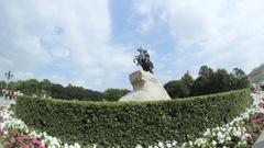 Bronze Horseman, The Peter The Great Statue, St. Petersburg, Russia Stock Footage
