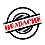 Headache rubber stamp Stock Illustration