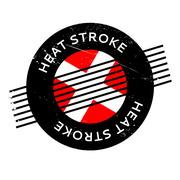 Heat Stroke rubber stamp Stock Illustration