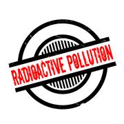 Radioactive Pollution rubber stamp Stock Illustration