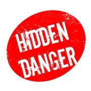 Hidden Danger rubber stamp Stock Illustration