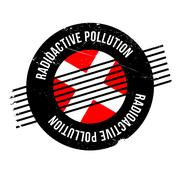 Radioactive Pollution rubber stamp Stock Illustration