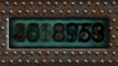 Rusty Digital  Counter on Steam Punk Background  -   Looping Video Footage Stock Footage