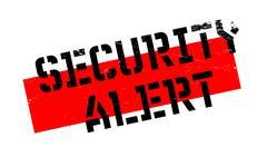 Security Alert rubber stamp Stock Illustration