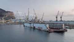 Palermo sicily shipping harbour port industrial transportation cargo Stock Footage
