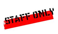 Staff Only rubber stamp Stock Illustration