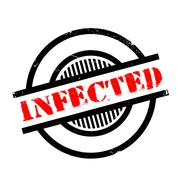 Infected rubber stamp Stock Illustration