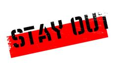 Stay Out rubber stamp Stock Illustration