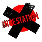 Infestation rubber stamp Stock Illustration