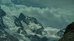 Matterhorn alps switzerland mountains snow riffelsee ski Stock Footage