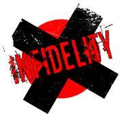 Infidelity rubber stamp Stock Illustration