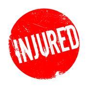 Injured rubber stamp Stock Illustration