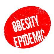 Obesity Epidemic rubber stamp Stock Illustration