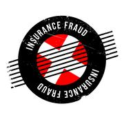 Insurance Fraud rubber stamp Stock Illustration