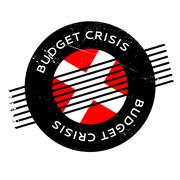 Budget Crisis rubber stamp Piirros