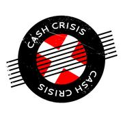 Cash Crisis rubber stamp Stock Illustration